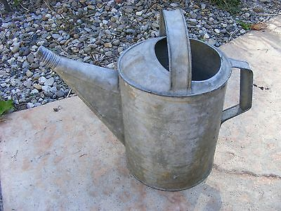 Vintage Garden Galvanized Watering Can No 8 with Handles County Home Decor