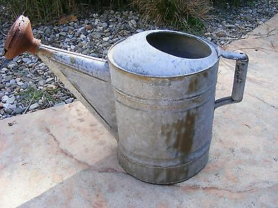 Vintage Garden Galvanized Watering Can No 12 Rusty Spout Farm Home Decor