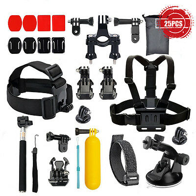 Head strap Mount Monopod Combo Kit Accessories For GoPro 1 2 3+ HERO4 Session
