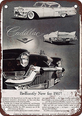 1957 Cadillac Vintage Look Reproduction Metal Sign