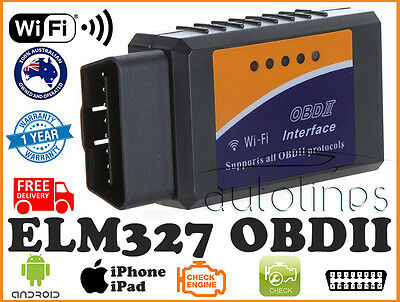 ELM327 OBDII OBD2 WiFi Car Diagnostic Scanner Scan Tool iPhone Android Fits KIA