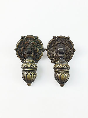 Antique Brass Acorn Drawer Cabinet Door Pulls Handles Chest Pair Steampunk a1