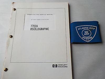 Hewlett Packard 7702A Oscillographic Recording System Operating/service Manual