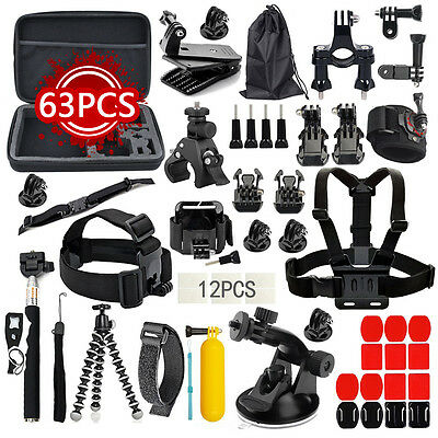 Action Camera Accessories Kits for Gopro 4/3/2/1 SJ4000 SJ5000 Accessory Bundles