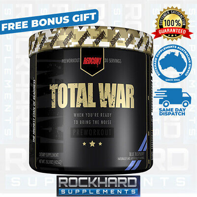 Redcon1 Total War Pre Workout 30 Serves Strong Energy Focus Redcon 1 Pump