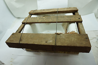 Antique Cast Iron Sink Porcelain Bathroom Bowl Basin New-Old Stock In Crate 12""