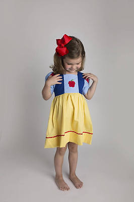 Embroidered Beauty Princess Dress New Belle Beast Smocked Girl Birthday * Girls' Clothing (sizes 4 & Up) Dresses