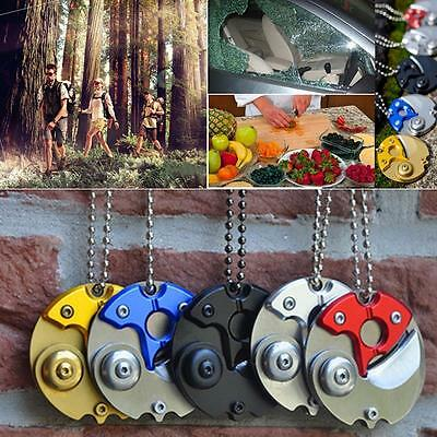 New Coin Claw Pocket Folding Knife Blade Survival Hunting Keychain EDC Tools GU
