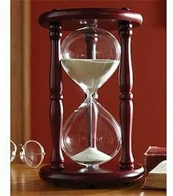 Lily?s Home Hourglass Timer 60 Minute Cherry Wood Sand Clock 9.5 Inch