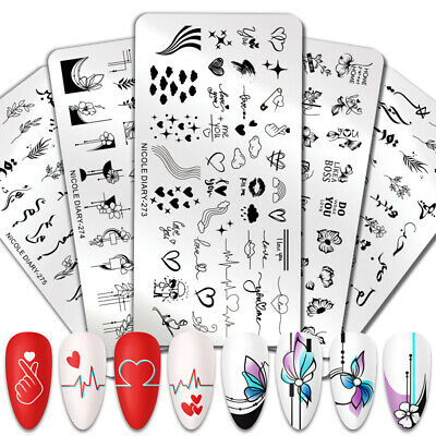 Nail Art Stamping Plates Image Stainless Steel Stamp Template Harunouta Series