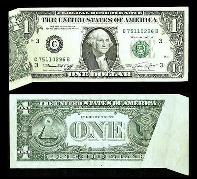 """""""A Neat Pre-Back Printing Foldover Error """"  $1 1974 Federal Reserve Note~~"""