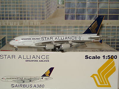 Die Cast 500 Singapore Airlines A380 Star Alliance 1/500 **Free S&H**