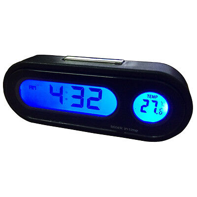 12V Digital LED Electronic Clock Car Thermometer Calendar Backlight 2 in 1
