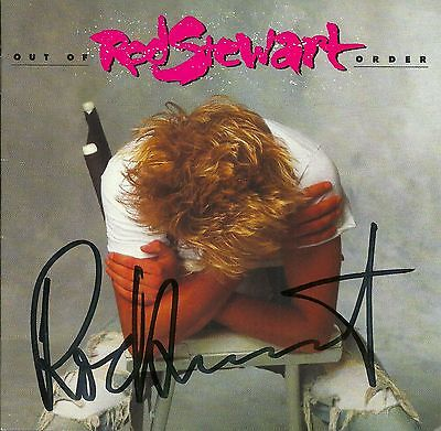 Rod Stewart signed Out of Order cd