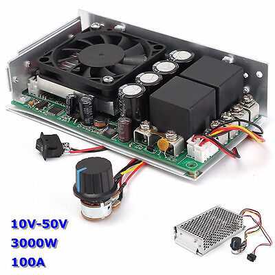 DC 10-50V 100A 3000W Programable Reversible Motor PWM Control Speed Controller