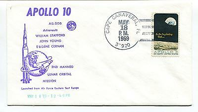 1969 Apollo 10 Stafford Young Cernan Lunar Orbital Mission Space Cover