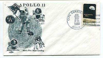 1969 Apollo 11 Man's First Moon Landing Cape Canaveral FL Space Cover
