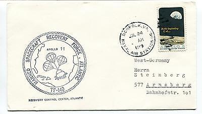 1969 Manned Spacecraft Recovery Force Atlantic TF-140 Naval Air Space Cover