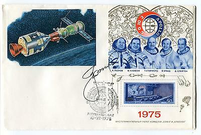 1975 Russian Satellite Space Mission Space Cover SIGNED CCCP Russia