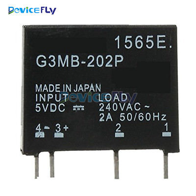 G3MB-202P DC-AC PCB SSR In 5V 12V DC Out 240V AC 2A Solid State Relay Module