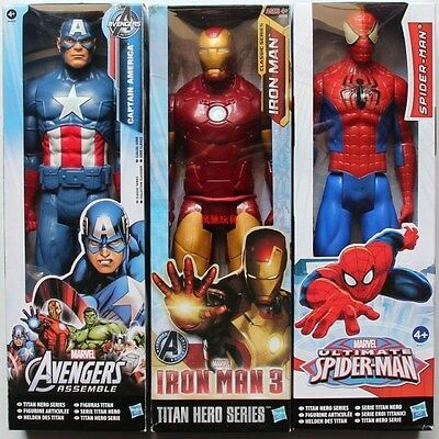 Hasbro Marvel Hero Captain America Iron Man Spider-Man Action Figure Set Kid Toy