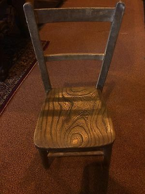 Vintage Childs Oak Chair  *Make Me An Offer*