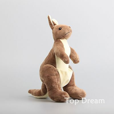 Kangaroo Lifelike Monty Plush Toy Soft Stuffed Animal Doll 12'' Figure Xmas Gift