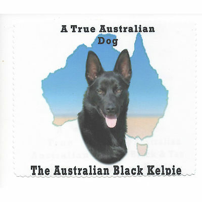 Australian Kelpie Black Map Glasses cleaning cloth Sunglasses Single sided
