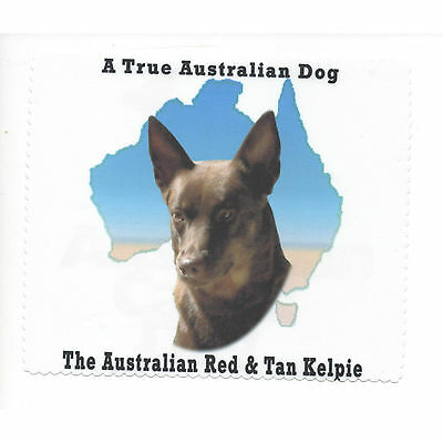 Australian Kelpie Red Tan Map Glasses cleaning cloth Sunglasses Single sided