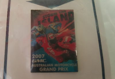 2007 GMC Australian MOTORCYCLE GRAND PRIX Official PIN  BADGE !