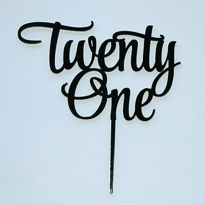 21st Twenty-one Cake topper, Happy Birthday,cake decor,in yr Choice of colour