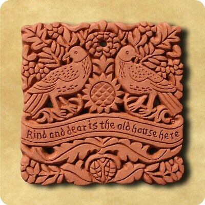 William Morris Dear House Decorative Terracotta Wall Tile - Made in England