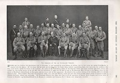 1900 BOER WAR OFFICERS OF THE 1st CONNAUGHT RANGERS