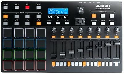 Akai MPD232 Midi Pad Controller with Step Sequencer Includes Ableton Live Lite