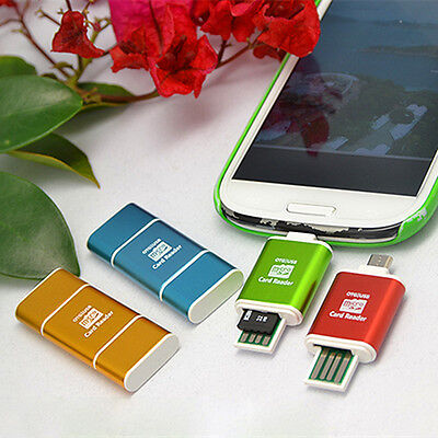 Mini Micro USB SDXC SDHC TF OTG Card Reader Adapter for Samsung S3 S4 Engaging