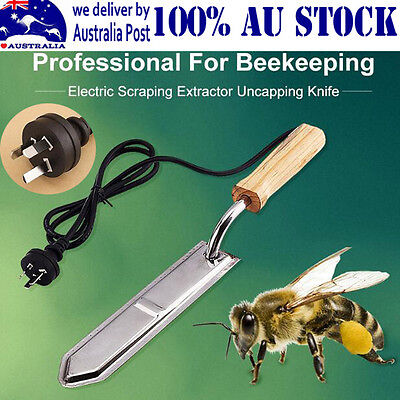 Hot Electric Honey Bee Supply Scraping Extractor Uncapping Knife Beekeeping Home