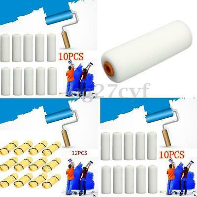 10/12PCS 100mm Paint Foam Rollers Decorators Brush Evenly & Smooth Home Tools