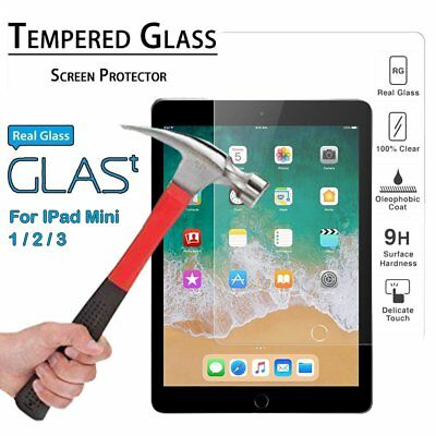 100%  Genuine Tempered Glass Film Lcd Screen Protector For Apple Ipad Air 1 & 2