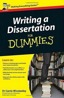 Writing a Dissertation for Dummies,PB,Carrie Winstanley - NEW