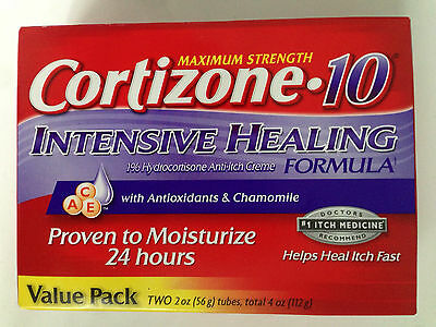 Cortizone 10 Intensive Healing Formula Anti-Itch Cream 4oz (112g) FAST FREEPOST