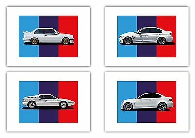 BMW A4 Framed Picture Poster M1 M2 M3 1M e30 M3 e36 e46 e90 e92 f80 e82 Options!
