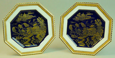 Antique Pair Of Copeland Porcelain Cabinet Plates C1880