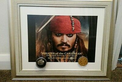 pirates of the caribbean Authentic Film prop movie prop coin and nugget
