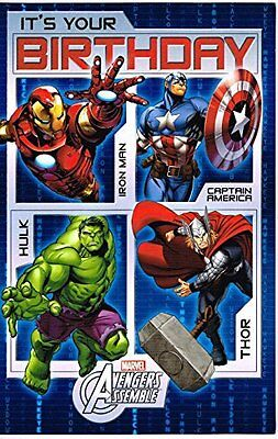 Avengers Assemble It's Your Birthday Card New Gift Marvel