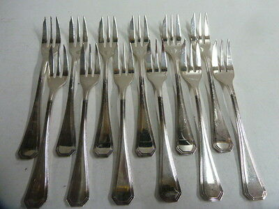 CHRISTOFLE AMERICA 12 PASTRY FORKS - brillant luster