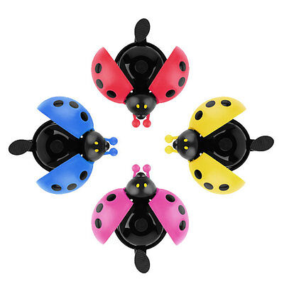 Lovely Kid Beetle Ladybug Ring Bell For Cycling Bicycle Bike Ride Horn Alarm AG