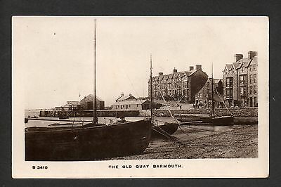 Barmouth - The Old Quay - real photographic postcard