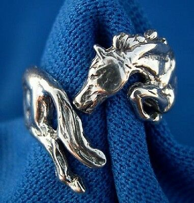 Horse Jewelry Silver Jumper Ring One Size Fits All Zimmer Jewelry