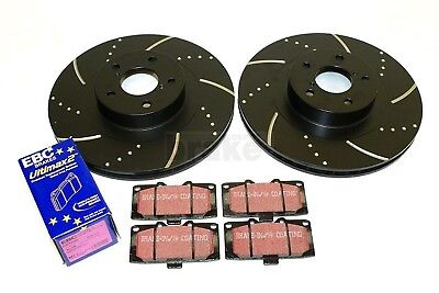 Brake Discs EBC Pads Impreza WRX 4 Pot Calipers Performance Dimpled Grooved