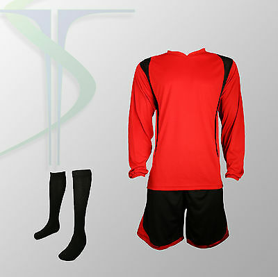 Football Team Kits - 15 x Blade Red / Black XL Adults / Full Team Kit !!!!!